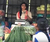 Rakul Preet Singh Selling Vegetables In Kukatpally