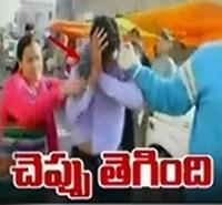 Patiala Woman Thrashes Gas Agency Worker With Slipper Over Vulgar Talk