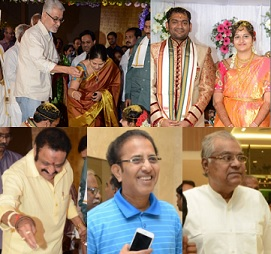 Celebs at Director K.Vasu Daughter Wedding Photos