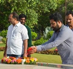Jr NTR and Koratala Shiva at NTR Ghat Photos