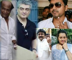 Stars Cast Their Vote in TN Elections Photos