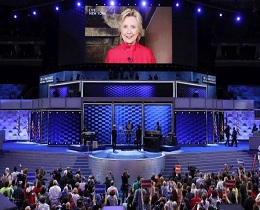 Clinton wins historic nomination, says glass ceiling cracked