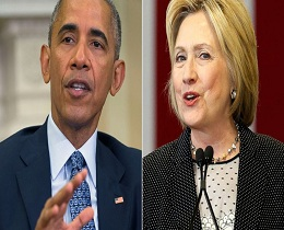 Obama 'passes the baton' to Hillary