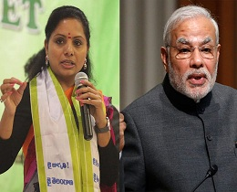 Kavitha Targets Modi