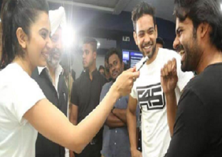 Rakul Preet having fun with 'Mega Hero'