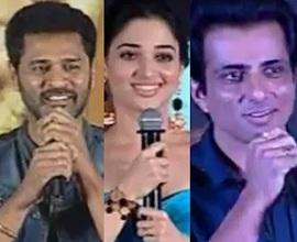 Celebs Speech @ Abhinetri Telugu Movie Audio Launch