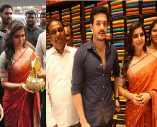 Samantha Akhil Launches South India Shoping Mall