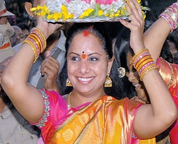 Kavitha Will Be Obama's guest this Batukamma