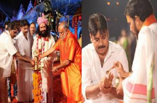Power  Star Pawan Kalyan At Koti Deepothsavam Photos