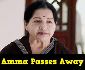 Tamil Nadu CM Jayalalitha No More