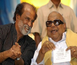 Tamil Superstar Rajinikanth Calls On DMK Chief Karunanidhi