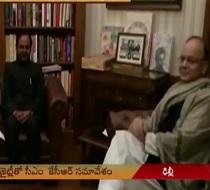 CM KCR meets Arun Jaitley