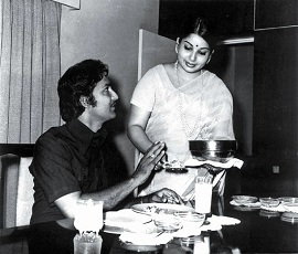Rare Moment: Sobhan Babu and Jayalalitha