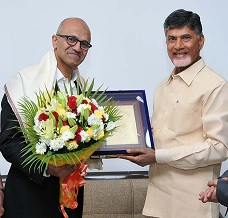 Naidu Tried To Impress Satya Nadella!