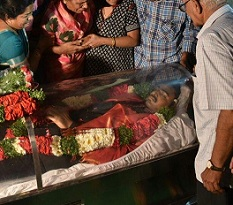Final Rites of Srinivas, Ministers Queued