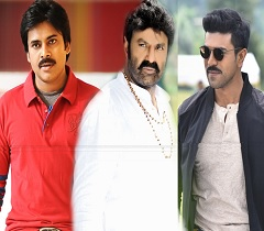 Charan, Balayya, Pawan in the Sun
