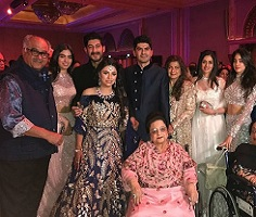 Pic : Sridevi with daughters at a wedding