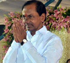 KCR Hires 3 Choppers, 4 Trains, 1 Lakh Vehicles