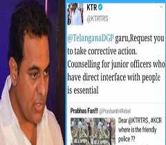 KTR Responds To Prabhas' Fans