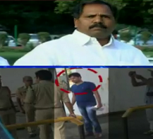 Caught on CCTV : TDP MP Nimmala Kristappa son attacks Toll Gate staff