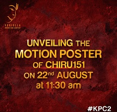 Time Set for Motion Poster of #Chiru151