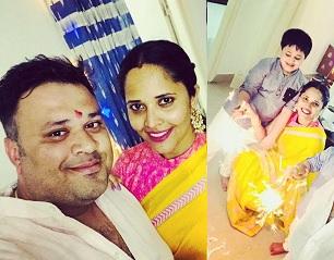 Anasuya Bharadwaj Diwali Celebration Personal Photos