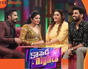 Comedy Nights with Hot Actress Namitha Couple – 21st Jan