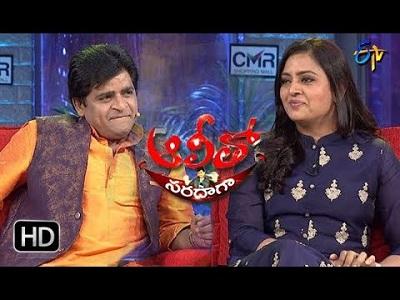 Alitho Saradagaa – 12th Mar with Actress  Indraja