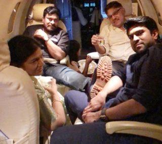 Private Pic: Mega Family's Mega Moments In Own Flight