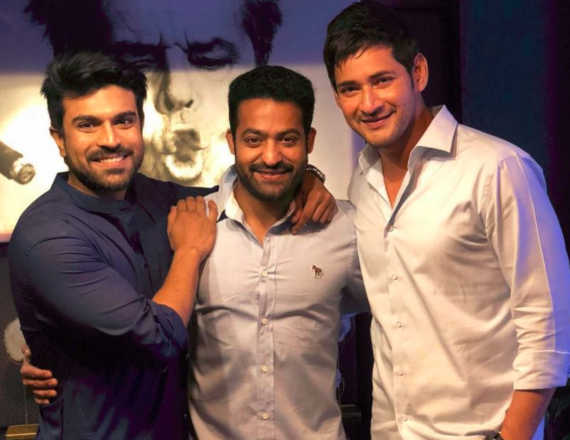 Midnight Pic: Charan, NTR and Mahesh Meet Up