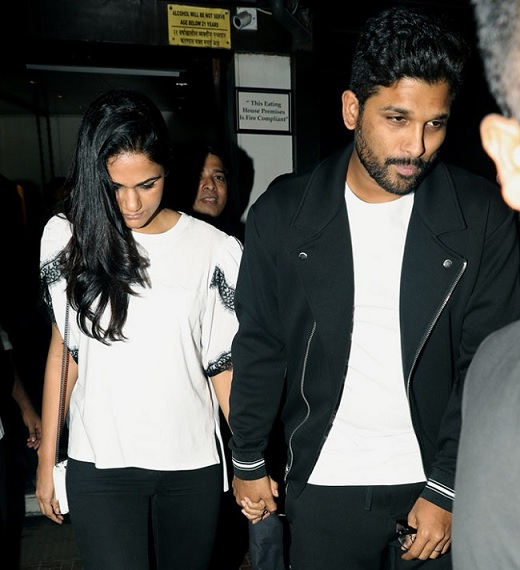Spotted: Allu Arjun and Sneha Reddy spotted in Mumbai