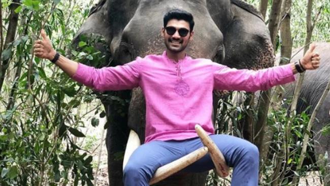 Bellamkonda trolled for sitting on elephant tusks