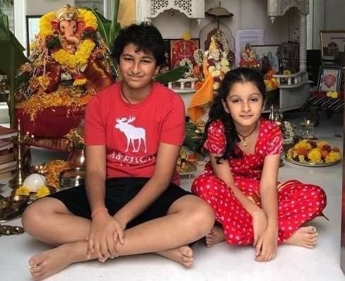 Mahesh Babu kids and Wife celebrating Ganesh Chathurthi – Gallery