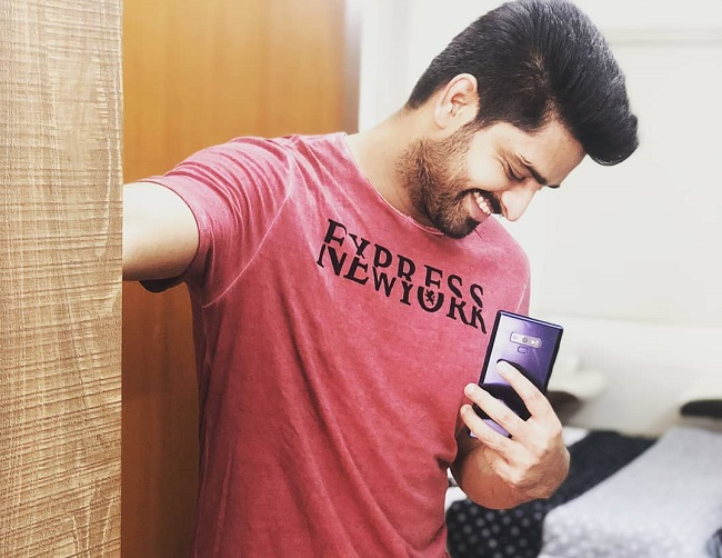 Pic: Naga Shaurya Owns Mobile Phone!