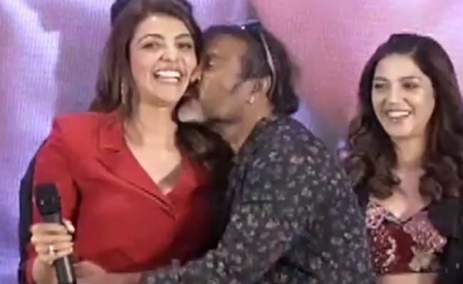 Watch: Chota Kisses Kajal on Stage
