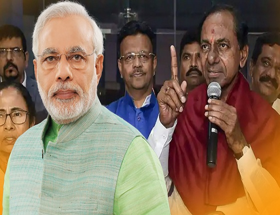 Modi's First Reaction On KCR's Federal Front