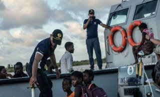 India's navy timely help to Mozambique Cyclone victims
