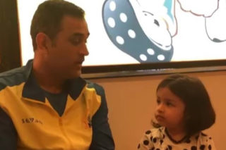 Viral Video: Dhoni talks to daughter in 6 languages