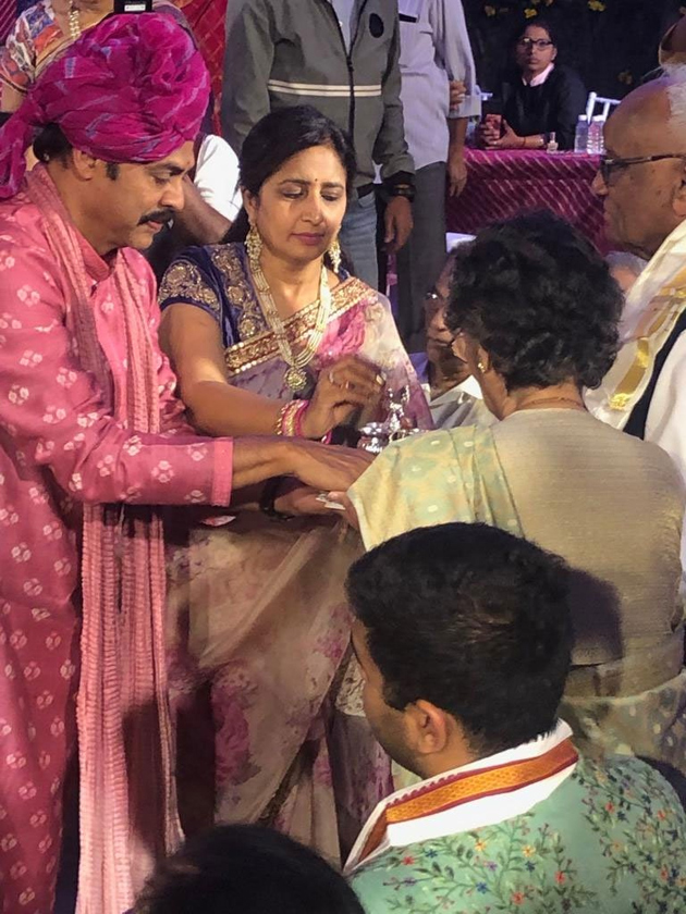 Special Attraction In Venky Daughter's Wedding