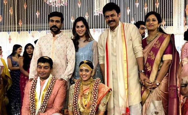 Pic: Venkatesh's Daughter's Wedding