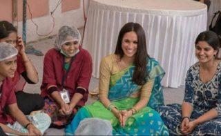 Meghan Markle's sari-clad image goes viral