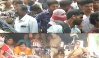 Jana Sena protests at Pragathi Bhavan