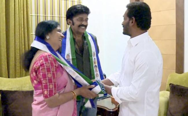 Jeevitha and Rajasekhar join YSRC party