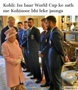 Meme: Queen Elizabeth meets the real Kohinoor