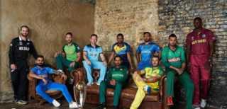 Cricket: 10 WC Team Captains with Trophy