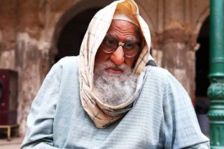 Big B's unrecognizable look from Gulabo Sitabo