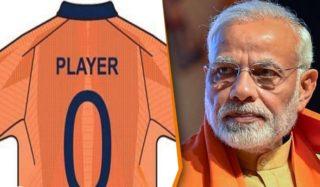 Is Modi Behind Indian cricket team's orange jersey?