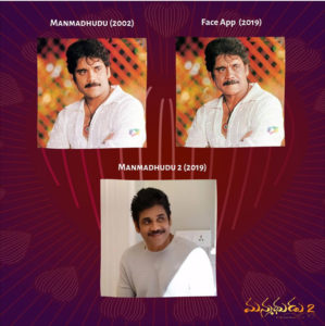 Manmadhudu 2 Uses FaceApp For Publicity