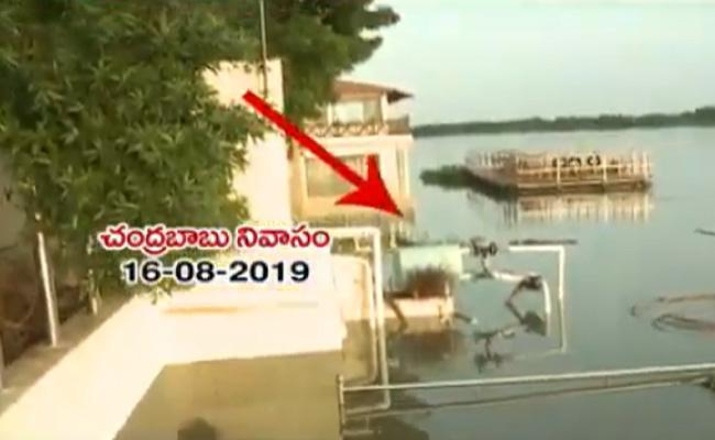Flood Water Enters Naidu House!