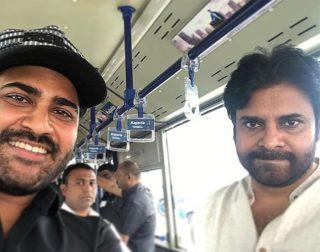 Sharwa Selfie With Pawan Kalyan